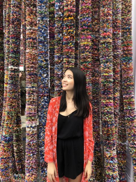 Writer Isabella Moore at One Million Star installation s